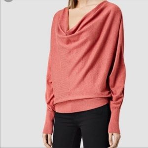 ALLSAINTS Elgar Sweater Terracotta Cowl Neck